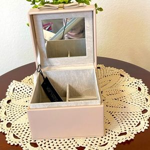 RACHEL ZOE Pink Square Jewelry Box